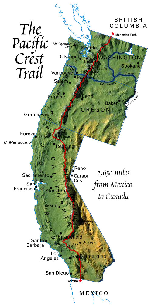 Pacific-Crest-Trail-map