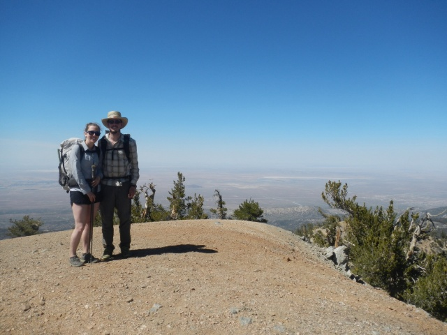 At the top of Mount Baden-Powell