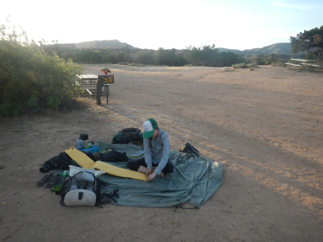 our random camp the next morning.