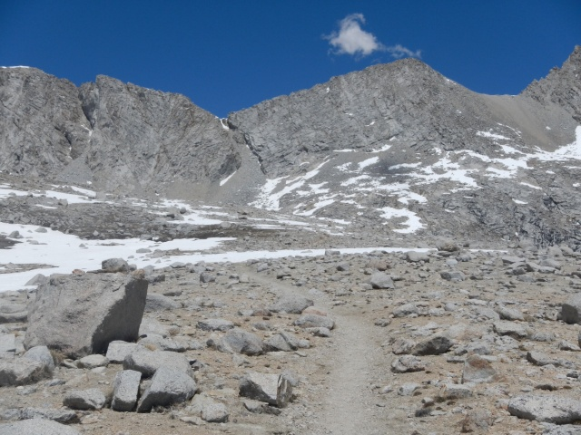 The trail goes through that chute