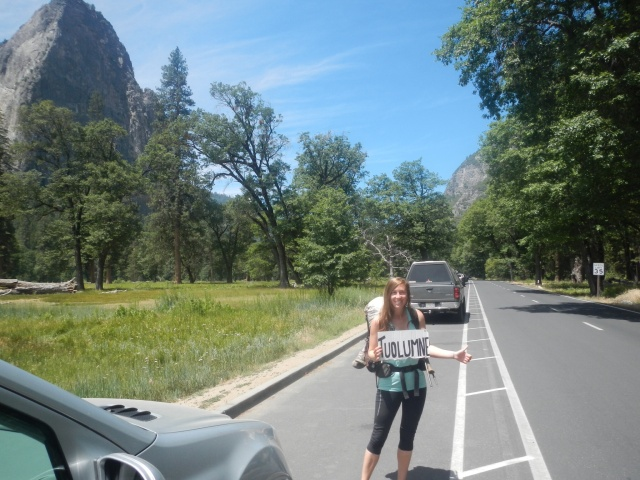 Hitching out of Yosemite Valley...