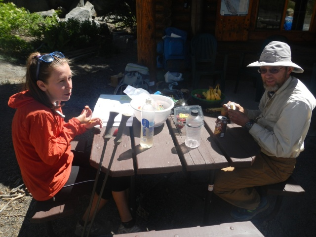 Free snacks for thru-hikers at a visitors centre!