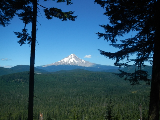 First view of Mt. Hood