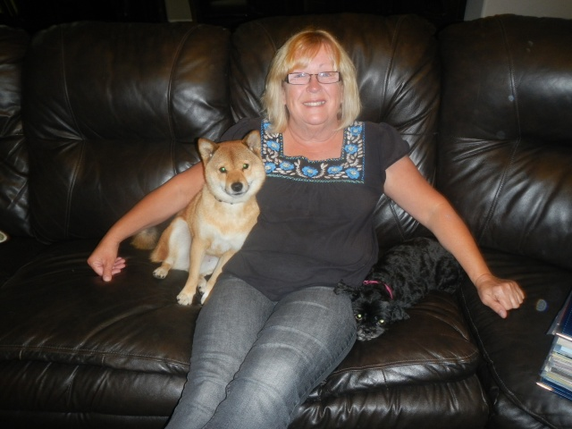 Momma Fox with her grand doggies